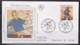 = Plaisir D'écrire De Etienne Davodeau Auteur Bande Dessinée Enveloppe 1er Jour Paris 21.10.93 N°2841 Plaisir D'écrire - 1990-1999