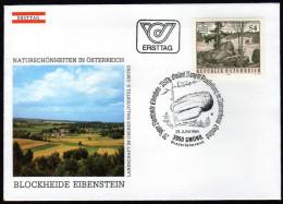 ÖSTERREICH 1984 - Naturschönheiten / Blockheide Eibenstein - Sonderstempel FDC - Holidays & Tourism