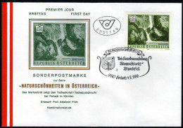 ÖSTERREICH 1986 - Naturschönheiten / Wasserfall, Tschaukofall In Kärnten - Sonderstempel FDC - Sonstige
