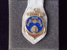 """Insignes Militaire """"3ème R.S.M.A. - Service Militaire Adapté - GUYANE -  """"ENGINEER REGIMENT """" - RARE - Armée De Terre"""