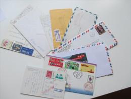 Asien / Übersee Belegeposten 17 Belege / 2 Briefstücke. China / Japan / Hong Kong / Thailand / Singapore / Indien Usw. - Sammlungen (ohne Album)