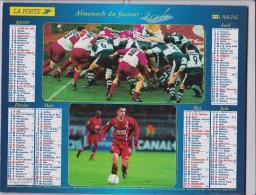 Calendrier  PTT( En Vente  70  Jours Maxi) : 2004 :  Cyclisme, Handball,, Rugby , Football ,lyon - Calendars