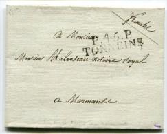 LOT ET GARONNE DeTONNEINS LAC Du 21/08/1819 Linéaire 10x12   P45P TONNEINS - 1801-1848: Précurseurs XIX