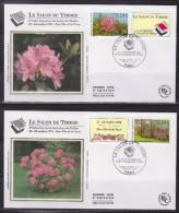 = Salon Européen Des Loisirs Du Timbre 1994 Enveloppes 1er Jour Paris 10.11.93 N°2849 Rhododendron Et 2850 Parc Floral - 1990-1999