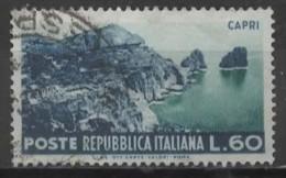 ITALY 1953 Tourist Series - 60l Capri FU - 6. 1946-.. Republic