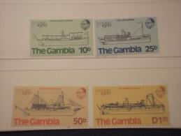 GAMBIA - 1980 NAVI POSTALI 4 Valori - NUOVI(++) - Gambia (1965-...)