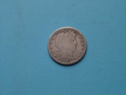 1902 Quarter Dollar - KM 114 ( Uncleaned - For Grade, Please See Photo ) ! - Émissions Fédérales