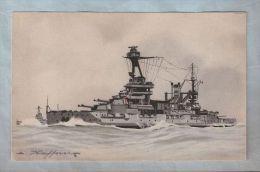 """CPA - Illustration Bateau - Collection De La Ligue Maritime Et Coloniale - Cuirassé """"Lorraine"""" - Guerra"""