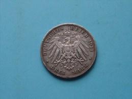 1911 J - DREI MARK Hansestadt HAMBURG - KM 620 ( Uncleaned - For Grade, Please See Photo ) ! - [ 2] 1871-1918 : Empire Allemand