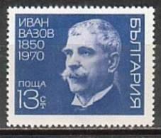 BULGARIA \ BULGARIE - 1970 - 120an. De La Naissance De L´ecrivain Ivan Vazov - 1v** - Bulgarie