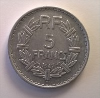 5 Francs LAVRILLIER - 1947 B - Alu - - France