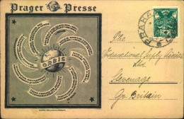 PRAGER PRESSE, Dekorative Werbekarte, Reklame - Briefe U. Dokumente