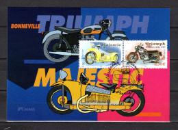"""Carte Maximum De 2002 """" MOTOS : """" TRIUMPH BONNEVILLE 650 / MAJESTIC """" N° YT 3510 3515. Parfait état. CM - Motorräder"""