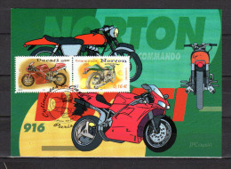 "FRANCE 2002 : Carte Maximum "" MOTOS : "" DUCATI 916 / NORTON COMMANDO 750 . N° YT 3511 3516. Parfait état. CM - Motorräder"