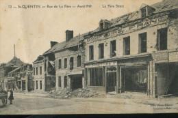 St Quentin Rue De La Fère La Fère Street Vue Sur Magasin Comptoirs Français - Saint Quentin