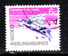 Cocos Islands Used Scott #13 6c Flyingfish - Cocos (Keeling) Islands