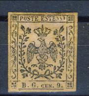Modena 1853 Segnatasse Per Giornali N. 2 B. G. C. 9 Violetto Grigio MH Firmato Biondi Cat. € 1200 - Modena