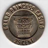 Jeton De Slot Machine : Grand Princess Casino : Antigua West Indies 25 Cent - Casino