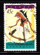 Cocos Islands Used Scott #293 45c Prabu Abjasa - Puppets - Cocos (Keeling) Islands