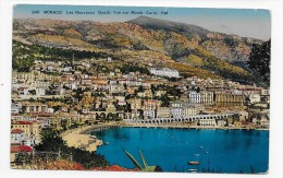 (RECTO/VERSO) MONACO - N° 246 - LES NOUVEAUX QUAIS - VUE SUR MONTE CARLO - CPA - Monte-Carlo