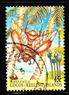 Cocos Islands Used Scott #302d 45c Scarab Beetle - Cocos (Keeling) Islands