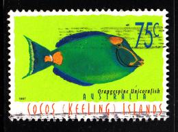 Cocos Islands Used Scott #308 75c Orangespine Unicornfish - Cocos (Keeling) Islands