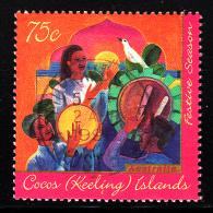 Cocos Islands Used Scott #317 75c Drum Beaters Celebrate Hari Raya Puasa - Festive Season - Cocos (Keeling) Islands
