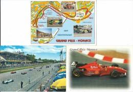 Sports > Motorsport> Grand Prix / F1 .Formula 1 Monaco.Lot 3 Unused Postcards - Grand Prix / F1