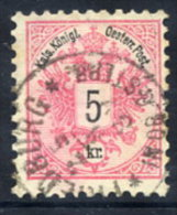 AUSTRIA 1883 Arms 5 Kr.perforated 10½ Used.  Michel 46D - 1850-1918 Empire