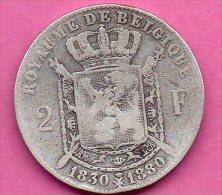 2F Léopold I & II   -  1830 - 1880 - Argent  - - 08. 2 Francs