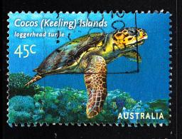 Cocos Islands Used Scott #336a 45c Loggerhead Turtle - Cocos (Keeling) Islands