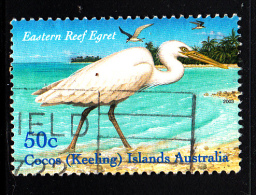 Cocos Islands Used Scott #337a 50c Eastern Red Egret - Cocos (Keeling) Islands