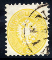 AUSTRIA 1863 Arms 2 Kr. Perforated 9½, Used.  Michel 30 - Used Stamps