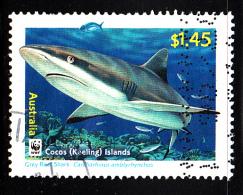 Cocos Islands Used Scott #343 $1.45 Grey Reef Shark - WWF - Cocos (Keeling) Islands