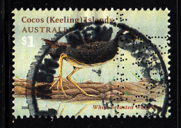 Cocos Islands Used Scott #349 $1 White Breasted Water Hen - Cocos (Keeling) Islands