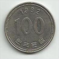 Korea South 100 Won 1992. - Korea, South