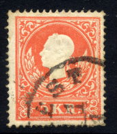 AUSTRIA 1858 Franz Joseph 5 Kr. Type I, Used.  Michel 13 I - 1850-1918 Empire