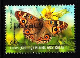 Cocos Islands Used 2012 Issue 60c Meadow Argus - Butterflies - Cocos (Keeling) Islands