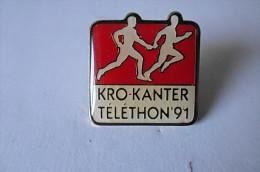 Pin´s  KRO KANTER Téléthon 91 - Pin's