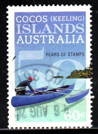 Cocos Islands Used 2013 Issue 60c Man In Blue Canoe - 50 Years Of Stamps - Cocos (Keeling) Islands