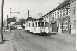 Leerbeek  -   FOTO  -   TRAM Richting   Leerbeek  ;   Stopt  Aan  Bieren  CONCORDIA -  Station - Tramways