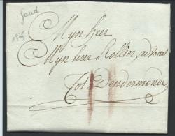 L. De Gand 1805 Port II à La Craie Rouge Pour Dendermonde - 1794-1814 (Période Française)