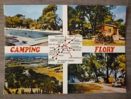VEDENE (84). MULTIVUE  SUR LE CAMPING FLORY . ANNEE 1986 - Otros Municipios