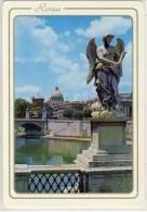 ROMA - Degli Angeli Del Ponte Di Sant'angelo E La Cupola Di San Pietro, Nice Stamp Poste Vaticano, - Formato Grande - Ponts