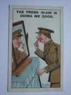 1917 POSTCARD `THE FRESH (H)AIR IS DOING ME GOOD` - Comics