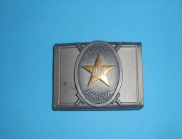 YUGOSLAV ARMY - MILITARY POLICE ...  Large Belt Buckle Laiton Boucle De Ceinture Gürtelschnalle Fibbia Della Cintura - Equipment
