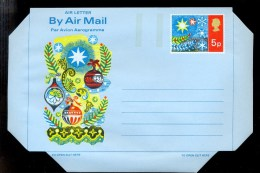 AEROGRAMME AEROGRAM STATIONERY * UNITED KINGDOM UK GB * CHRISTMAS * MINT - Stamped Stationery, Airletters & Aerogrammes