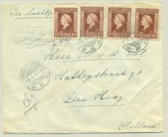 Nederlands Indië - 1947 - Retour Afzender (Bij)frankeren - Brief Bijgefrankeerd - Netherlands Indies