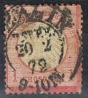 Sello 1/2 Gr, Alemania Reich 1872, Fechador BERLIN, Num 4 º - Usados