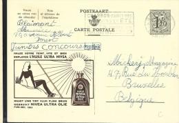 Publibel Obl. N° 1283 ( Huile NIVEA Protection Contre Le Soleil) Obl: Bxl - Stamped Stationery